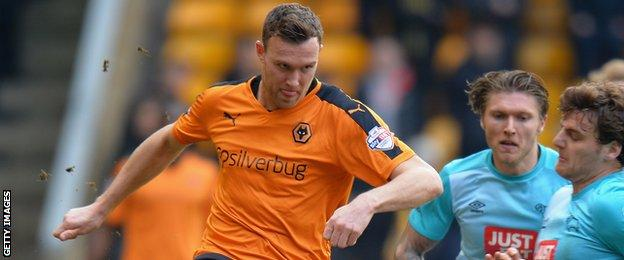 Kevin McDonald (left) in action for Wolves