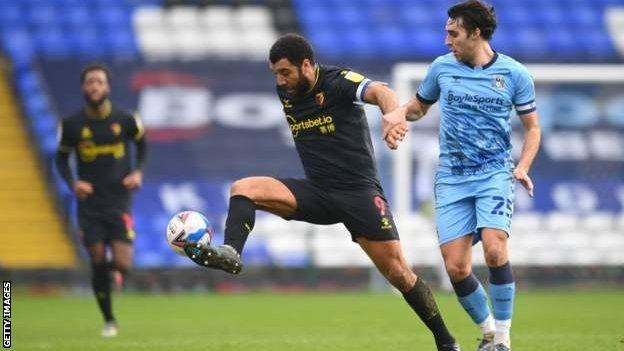 Action from Coventry v Watford