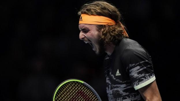 Tsitsipas beats Federer and will face Thiem for title at ATP Finals
