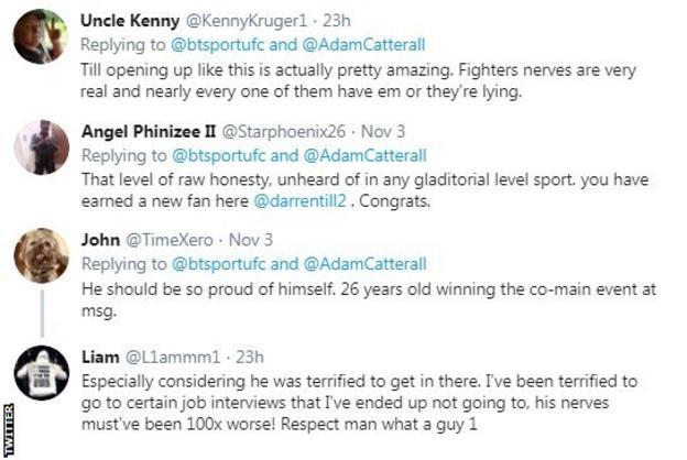 Twitter reaction to Darren Till win
