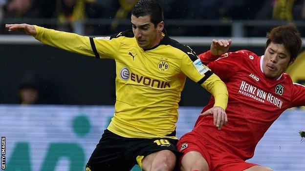 Borussia Dortmund's matchwinner Henrikh Mkhitaryan
