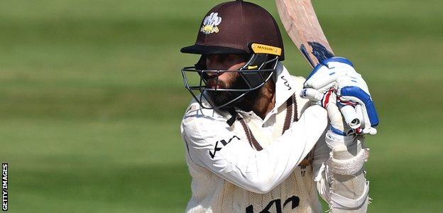 Amar Virdi batting for Surrey