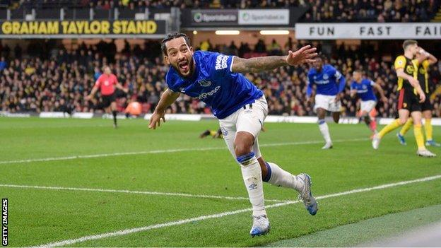 Theo Walcott only scored two goals for Everton in 2019-20 and is yet to score this season