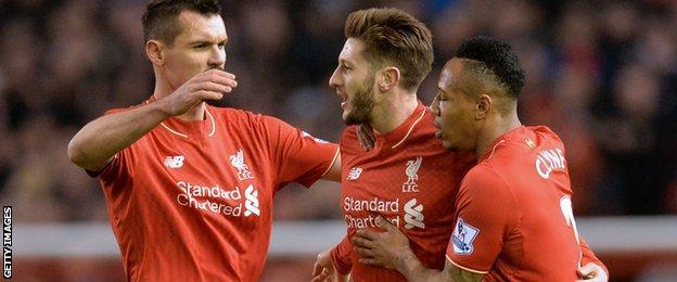 Dejan Lovren (left), Adam Lallana and Nathaniel Clyne (right) - all former Southampton players