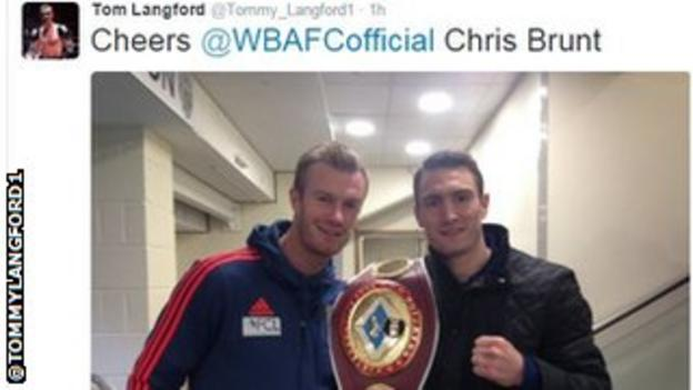 Tommy Langford with Chris Brunt