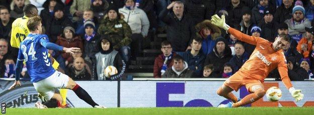 Allan McGregor against Villarreal