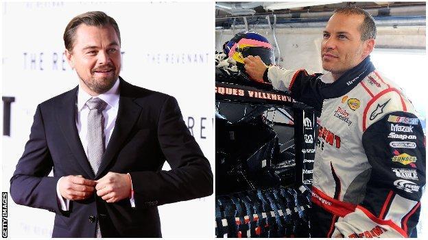 Leonardo DiCaprio and Jacques Villeneuve