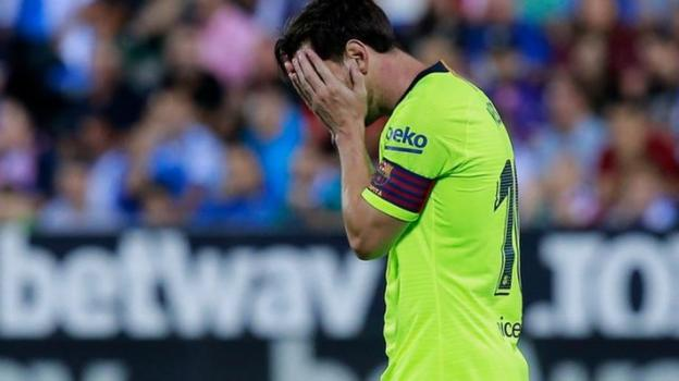 e4f78a529c7 Leganes 2-1 Barcelona - BBC Sport