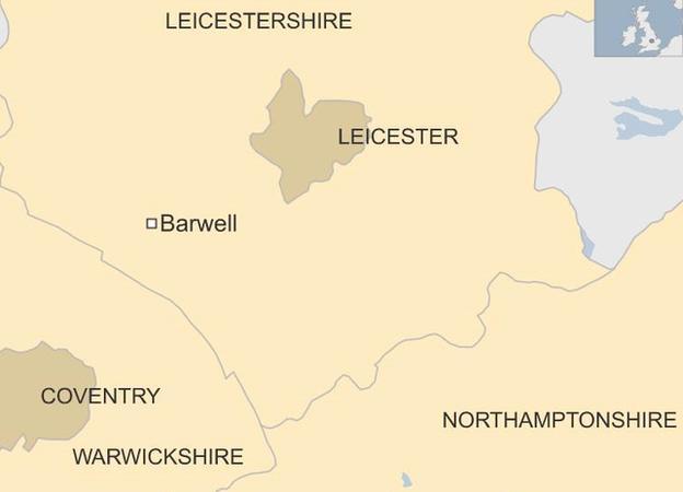 Barwell location map