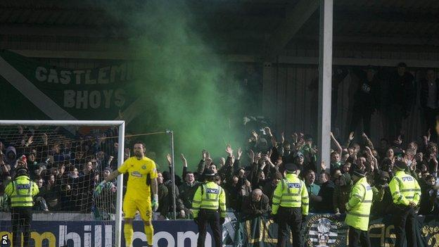 Police are investigating the behaviour of some Celtic supporters