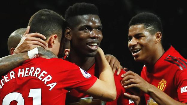 Man Utd 4-1 Bournemouth: Paul Pogba double as hosts win third in a row under Solskjaer thumbnail