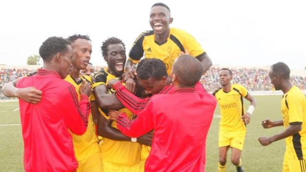 Horseed players celebrating