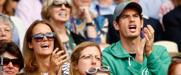 Andy Murray (right) and wife Kim (left)