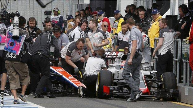 Romain Grosjean and Rio Haryanto