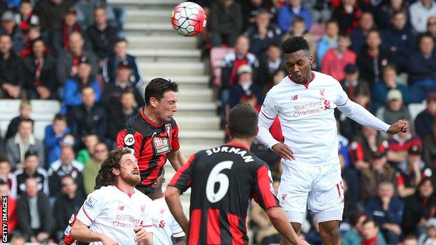Daniel Sturridge scores Liverpool's second goal, his ninth of the season in all competitions