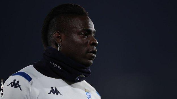 Mario Balotelli in action for Brescia