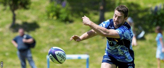 Greig Laidlaw in training for Scotland