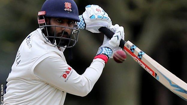Varun Chopra in action for Essex