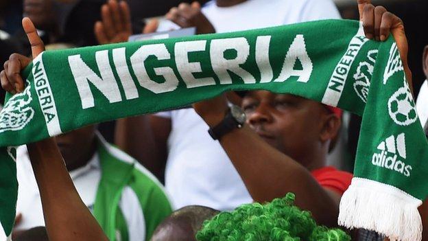 A Nigeria football scarf