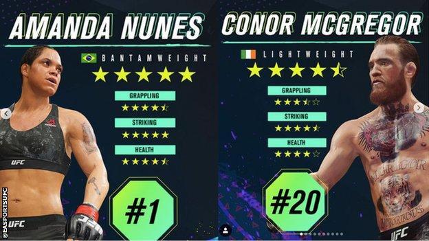 Amanda Nunes and Conor McGregor