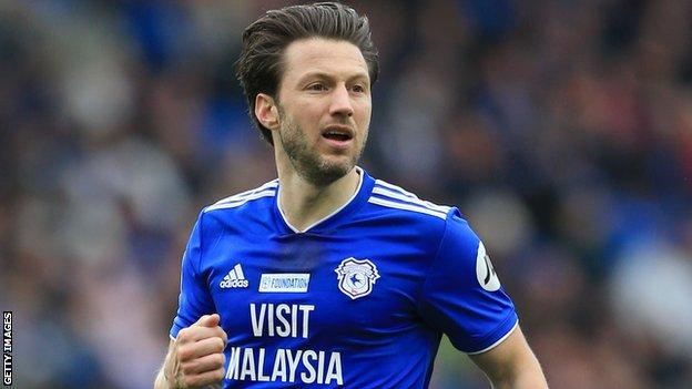 Harry Arter in action for Cardiff City