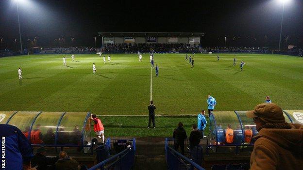 Curzon Ashton's Tameside Stadium