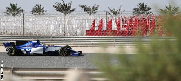 Sauber's German driver Pascal Wehrlein