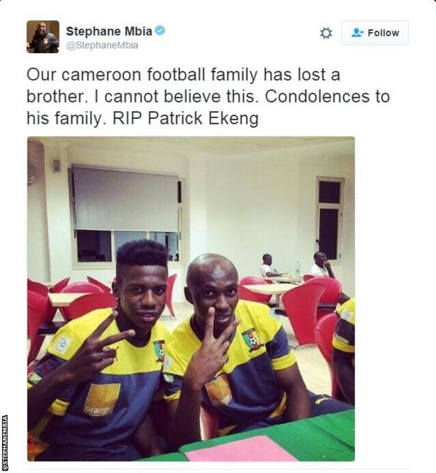 Stephane Mbia tweet