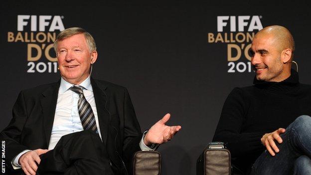 Sir Alex Ferguson and Pep Guardiola