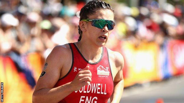 Sophie Coldwell in action at the 2018 Commonwealth Games