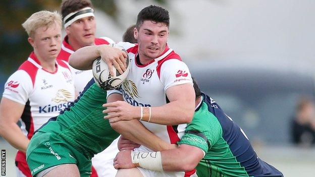 Sammy Arnold played for Ulster against Oyonnax in France last month