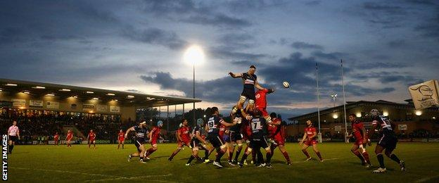Doncaster Knights play at Castle Park
