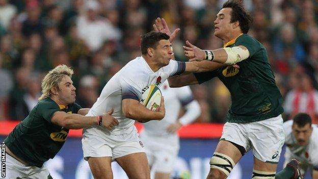 Ben Youngs in action for England against South Africa