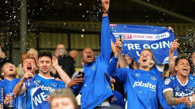 Pompey celebrating