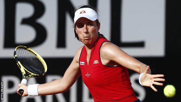Rome Masters: Johanna Konta knocked out in third round by Garbine Muguruza