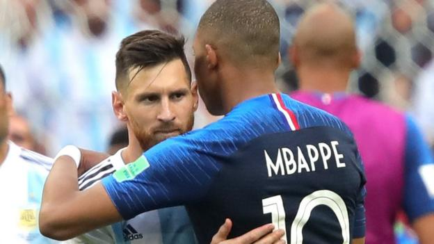 102276009 mbappeandmessi - World Cup 2018: Kylian Mbappe emerges on world stage as Lionel Messi departs