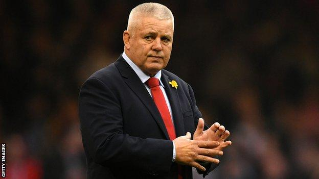 Warren Gatland is aiming to coach Wales to the Grand Slam on Saturday