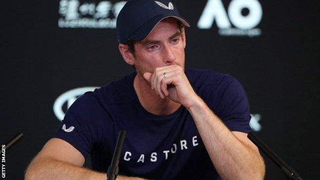 Andy Murray shows his emotions at the Australian Open
