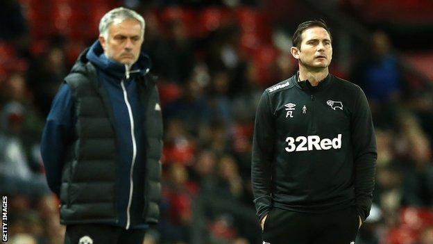 Jose Mourinho & Frank Lampard (right)