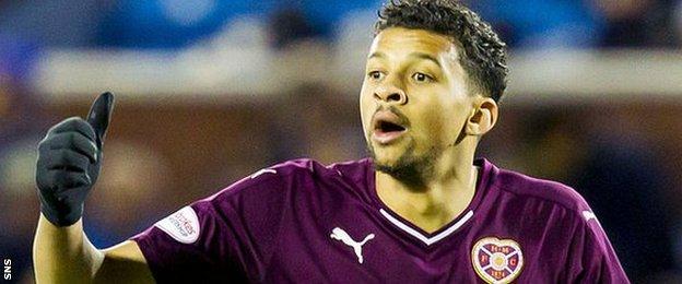 Hearts striker Osman Sow