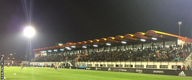 Valencia fans turn up to watch Gary Neville's first training session as Valencia head coach.