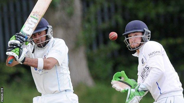 Mansoor Amjad batting for Civil Service against CIYMS