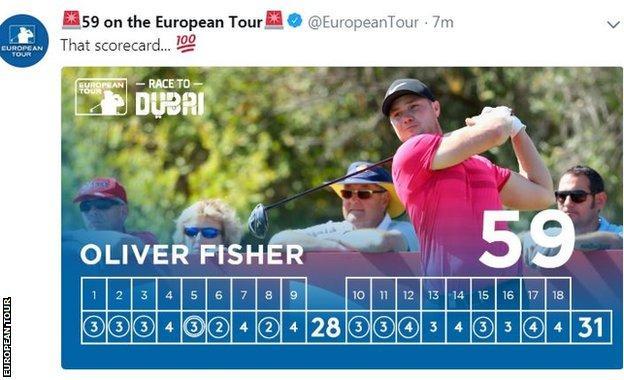 Oliver Fisher's scorecard