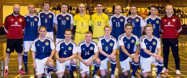 Scotland's futsal squad