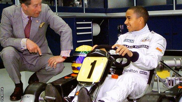 HRH Prince Charles and Lewis Hamilton