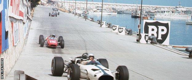 McLaren at the 1966 Monaco Grand Prix