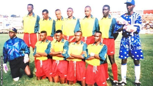 Eric Murangwa Eugene with the Rwanda squad