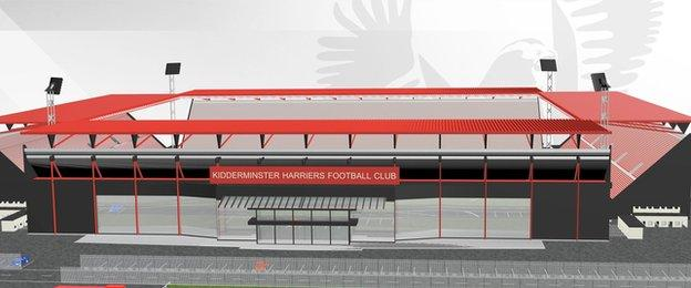 Harriers' proposed new home, based just off the Kidderminster/Stourport road