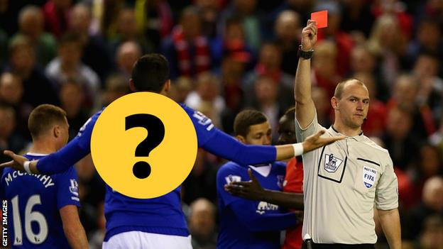 Everton red card