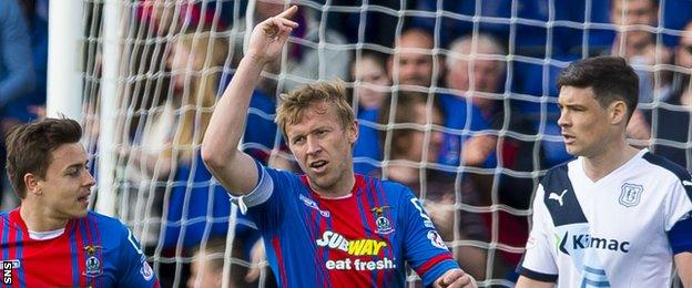 Richie Foran celebrates scoring for Inverness Caledonian Thistle